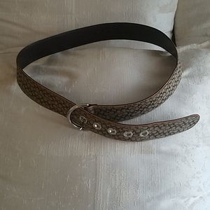 Coach signature canvas belt Medium